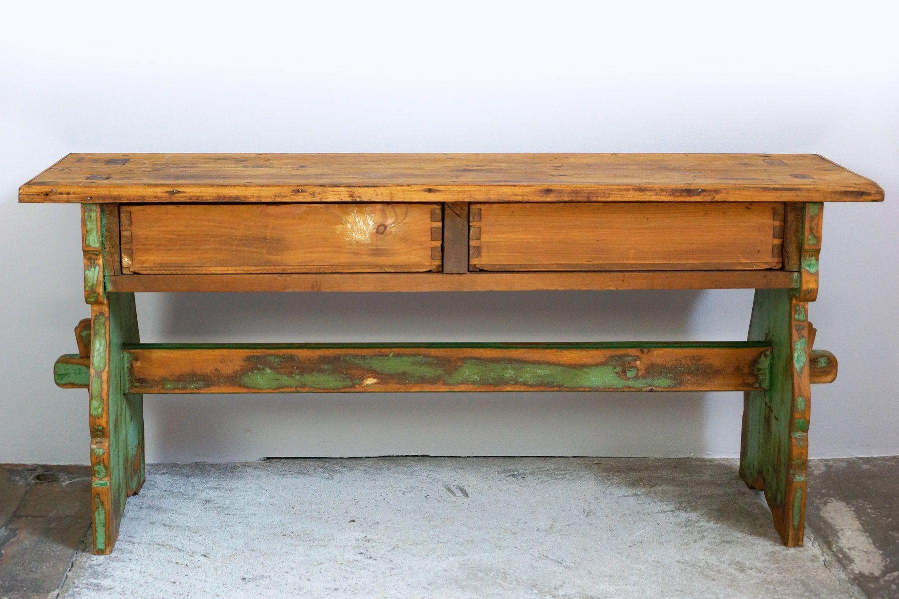 kleine k chenbank mit 2 schubladen 1890er bei pamono kaufen. Black Bedroom Furniture Sets. Home Design Ideas