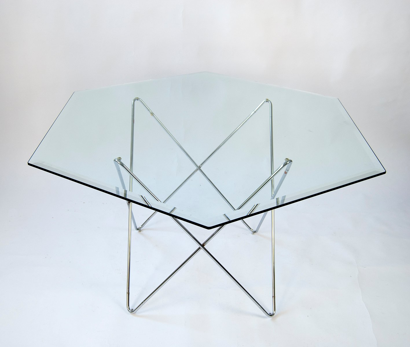 Hexagon Glass Dining Table S For Sale At Pamono - Hexagon glass dining table