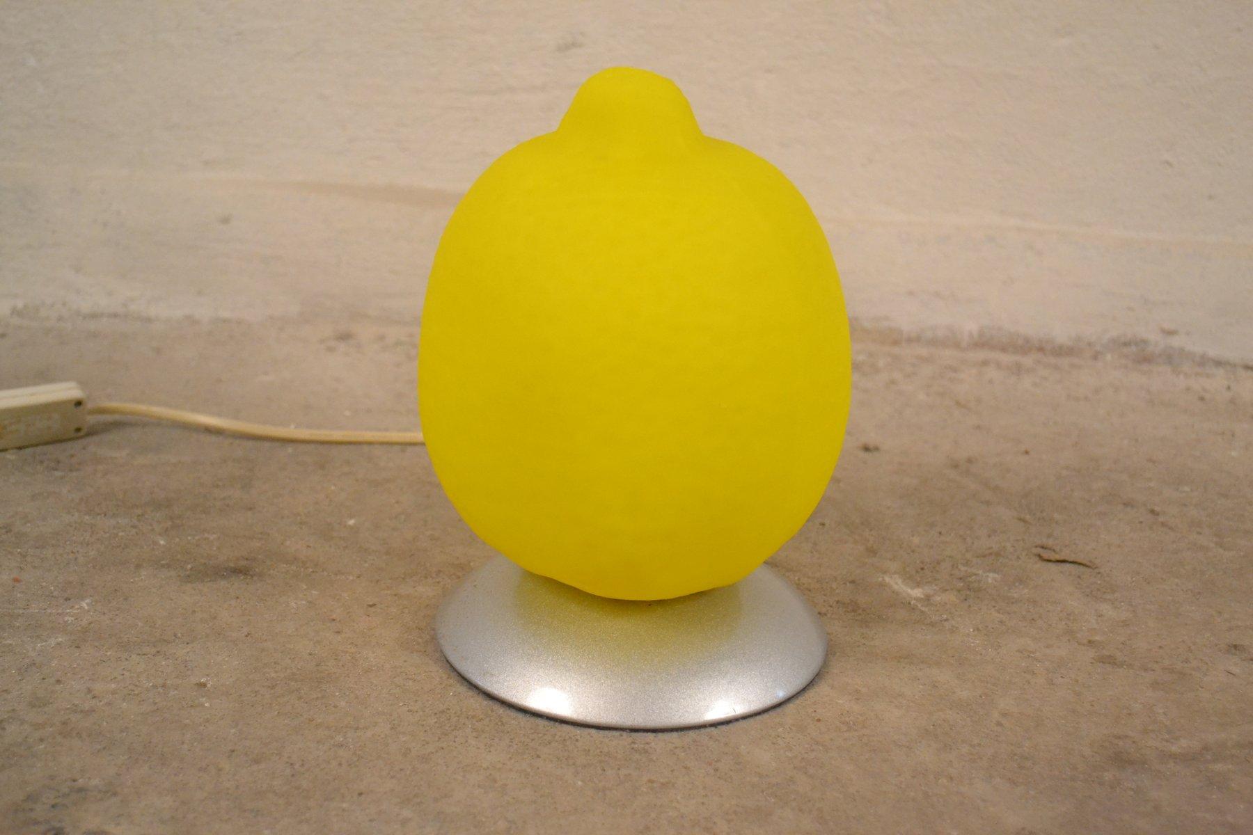 Tischlampe in Zitronen-Optik, 1980er