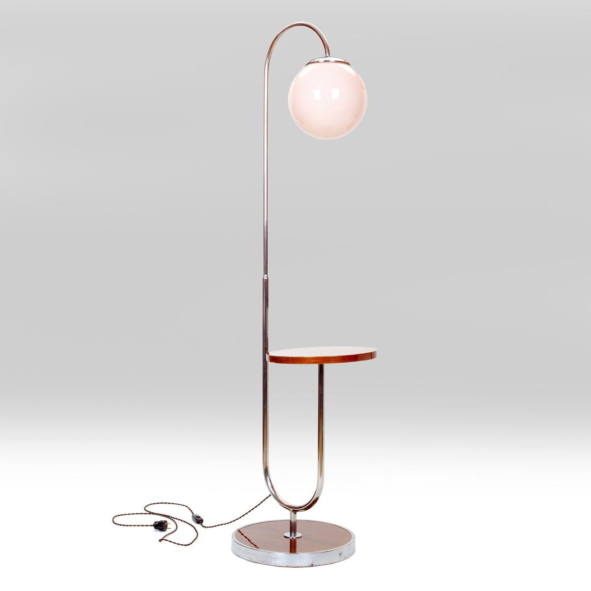 Chrome Tubular Floor Lamp, 1930s