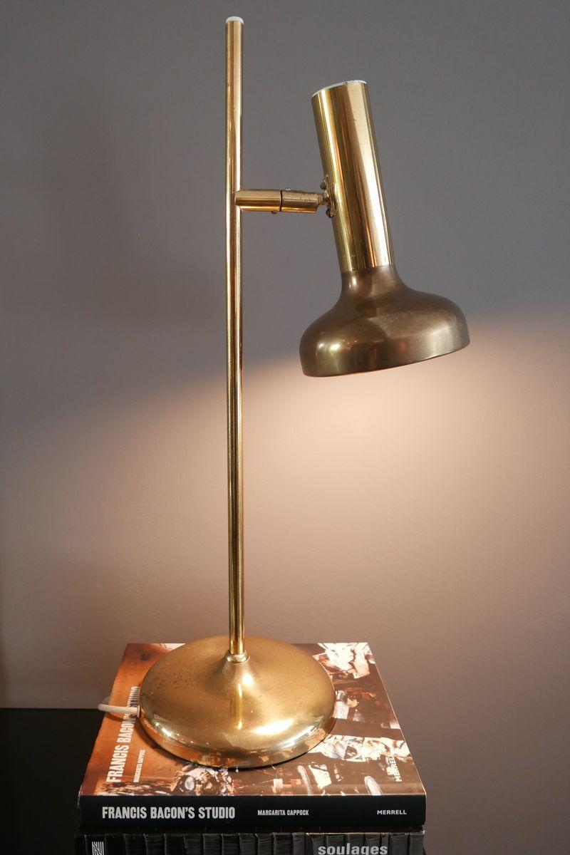 Tischlampe aus Messing von Koch & Lowy, 1960er