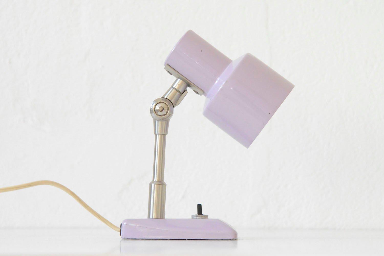 Lila Tischlampe von Stilnovo, 1960er