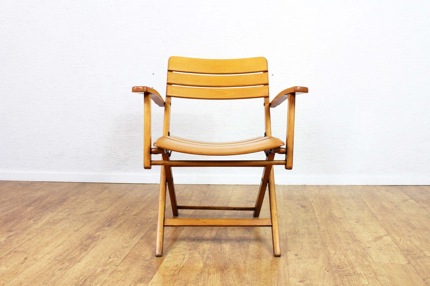 Chaise Pliante Vintage En Htre De Herlag