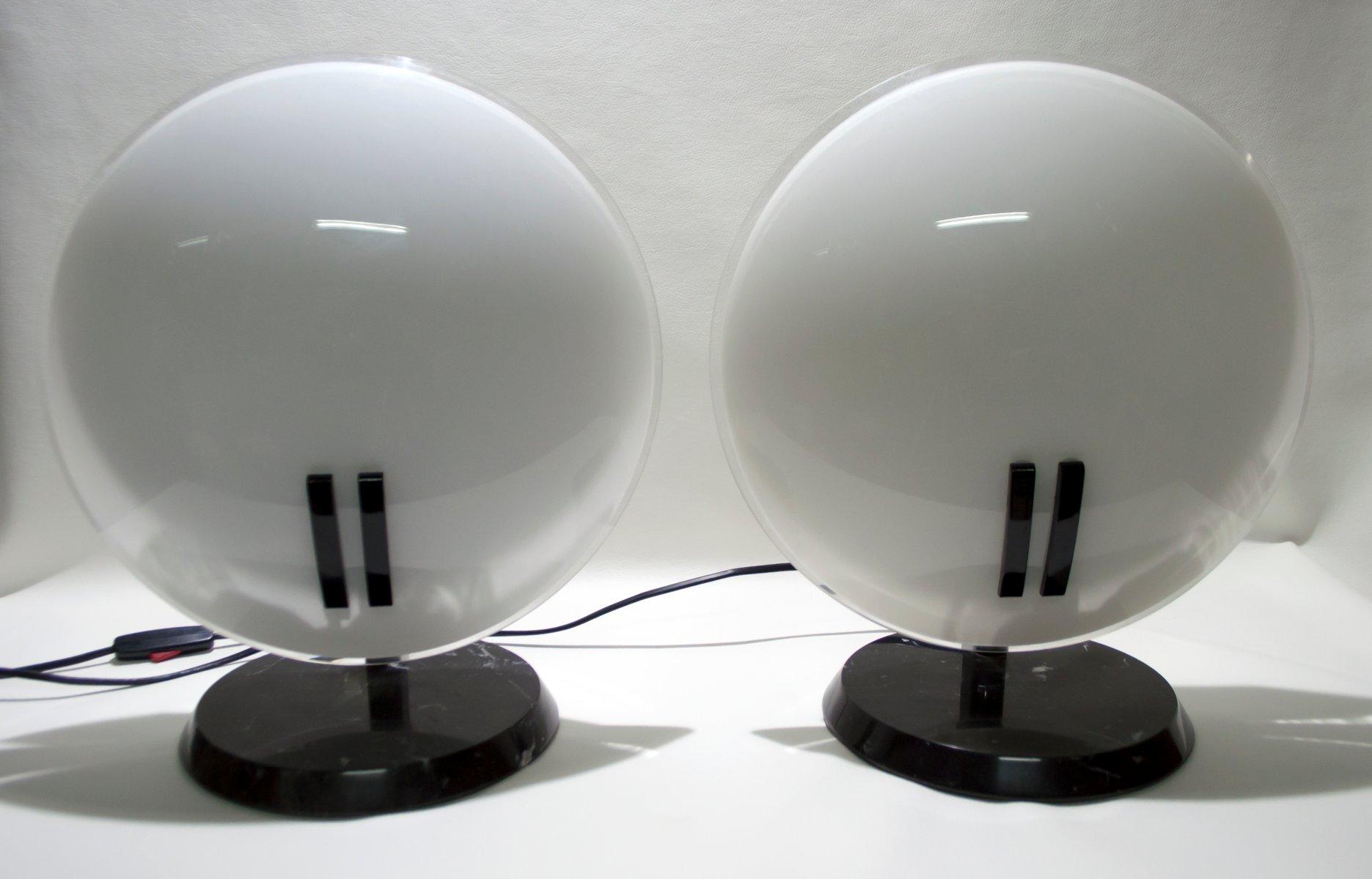 Modell Pearl Tischlampen von Bruno Gecchelin für Oluce, 1980er, 2er Se...