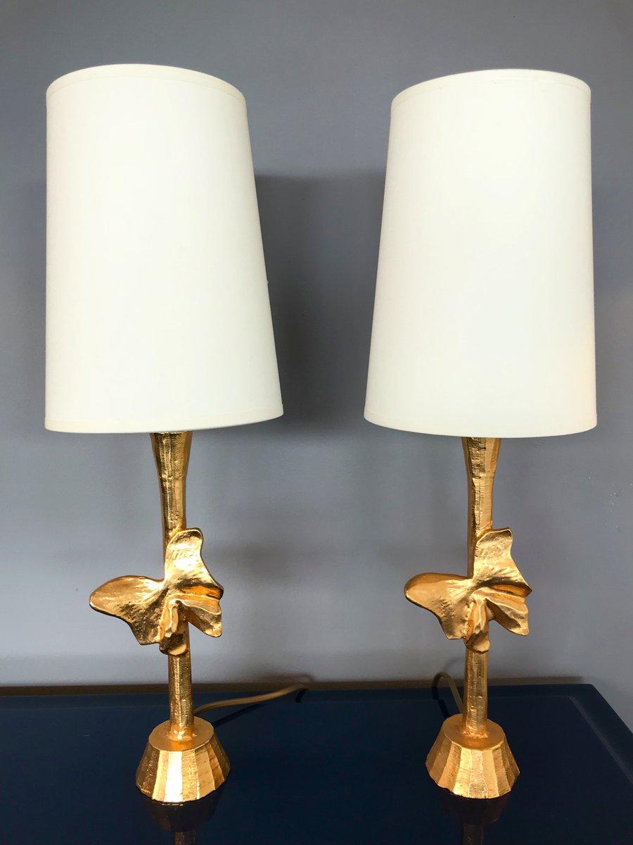 Französische Butterfly Lampen von Fondica, 1980er, 2er Set