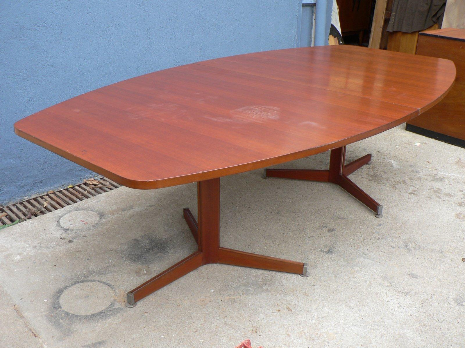 Vintage Konferenztisch aus Mahagoni