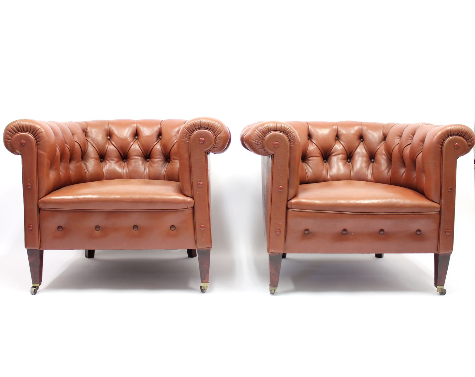 Chesterfield Clubsessel, 1940er, 2er Set