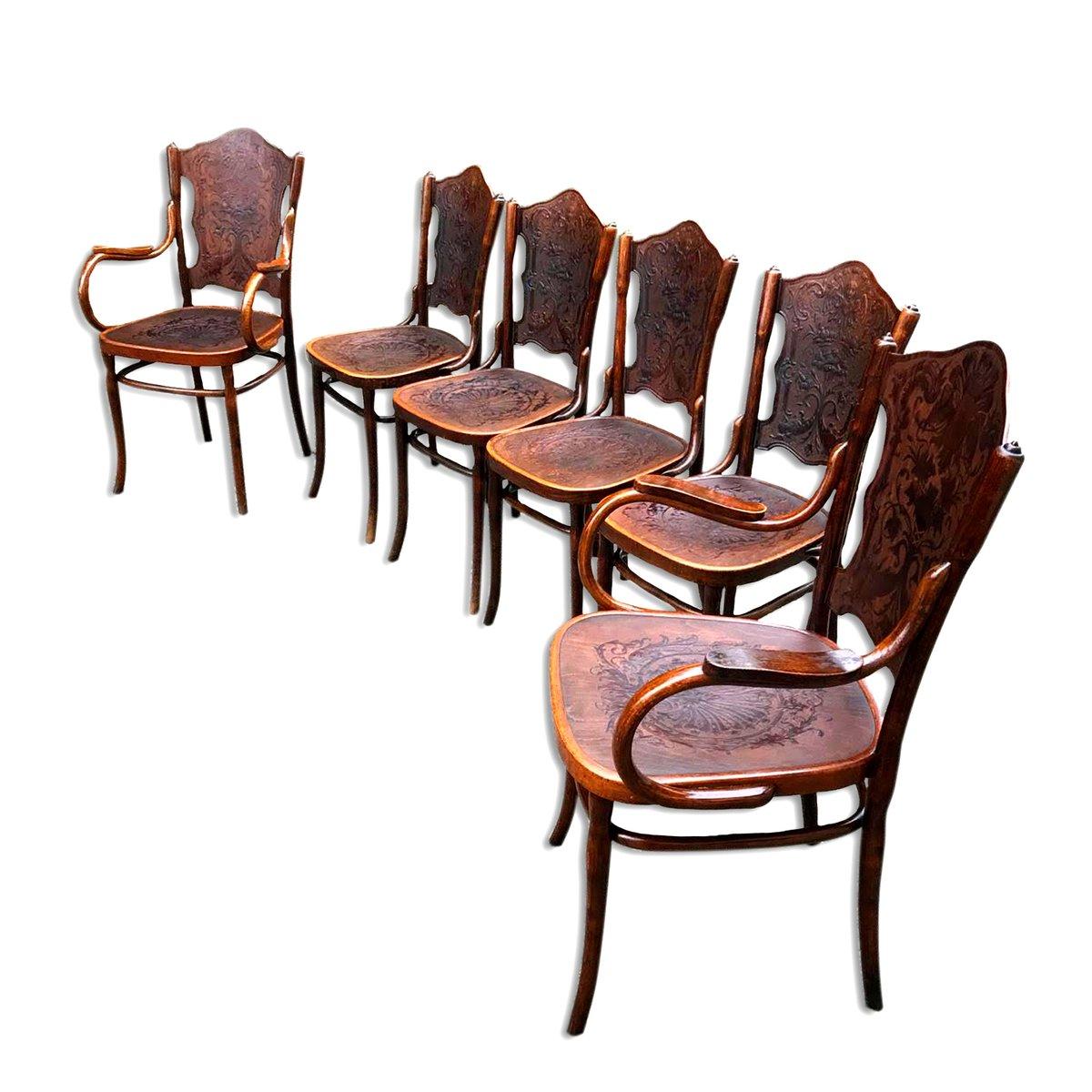 antike st hle sessel aus bugholz von jacob josef kohn bei pamono kaufen. Black Bedroom Furniture Sets. Home Design Ideas