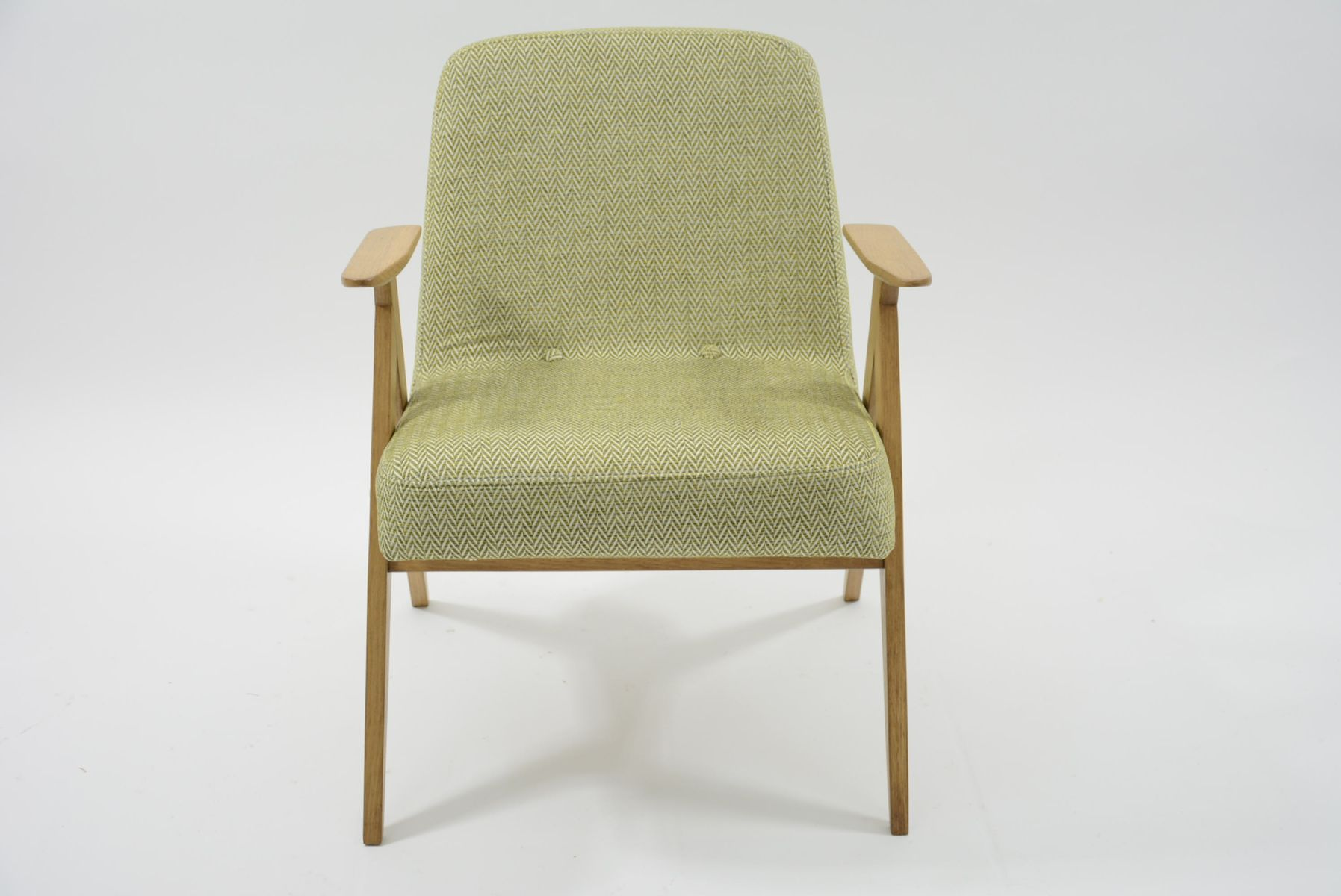 Zitronengelber Vintage Sessel, 1960er