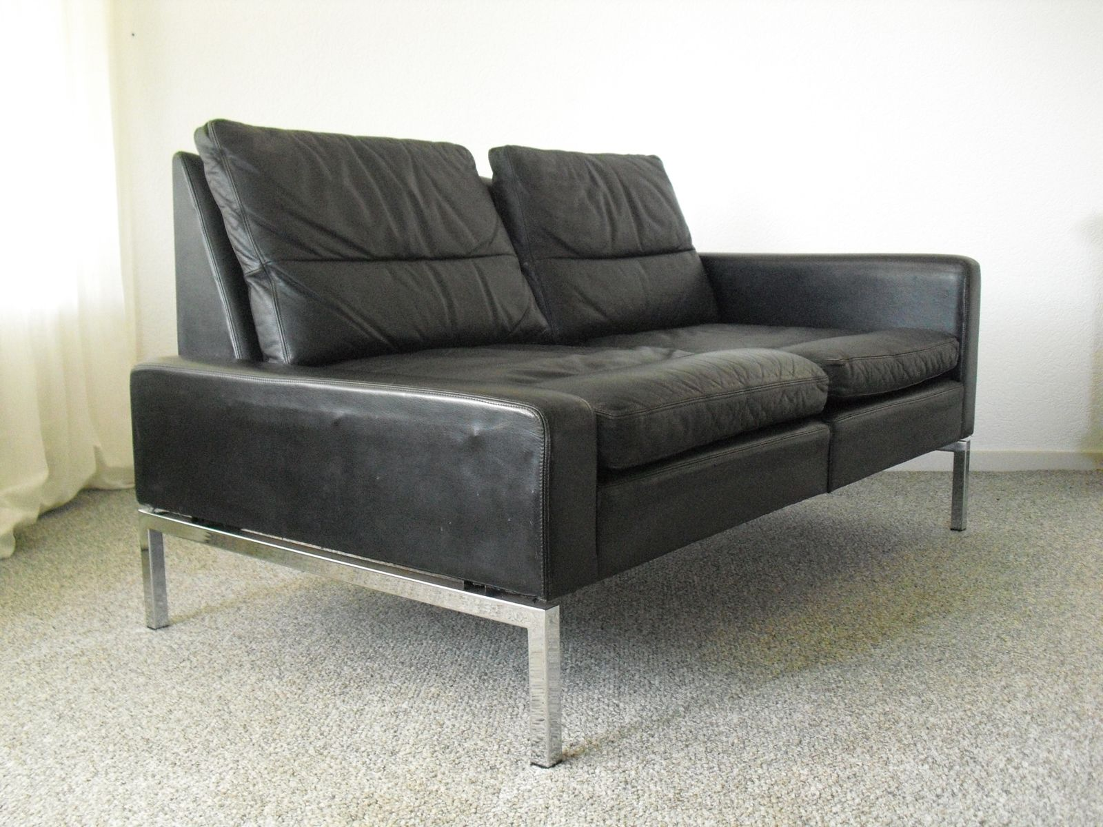 Mid century modern leather sofa 1960s