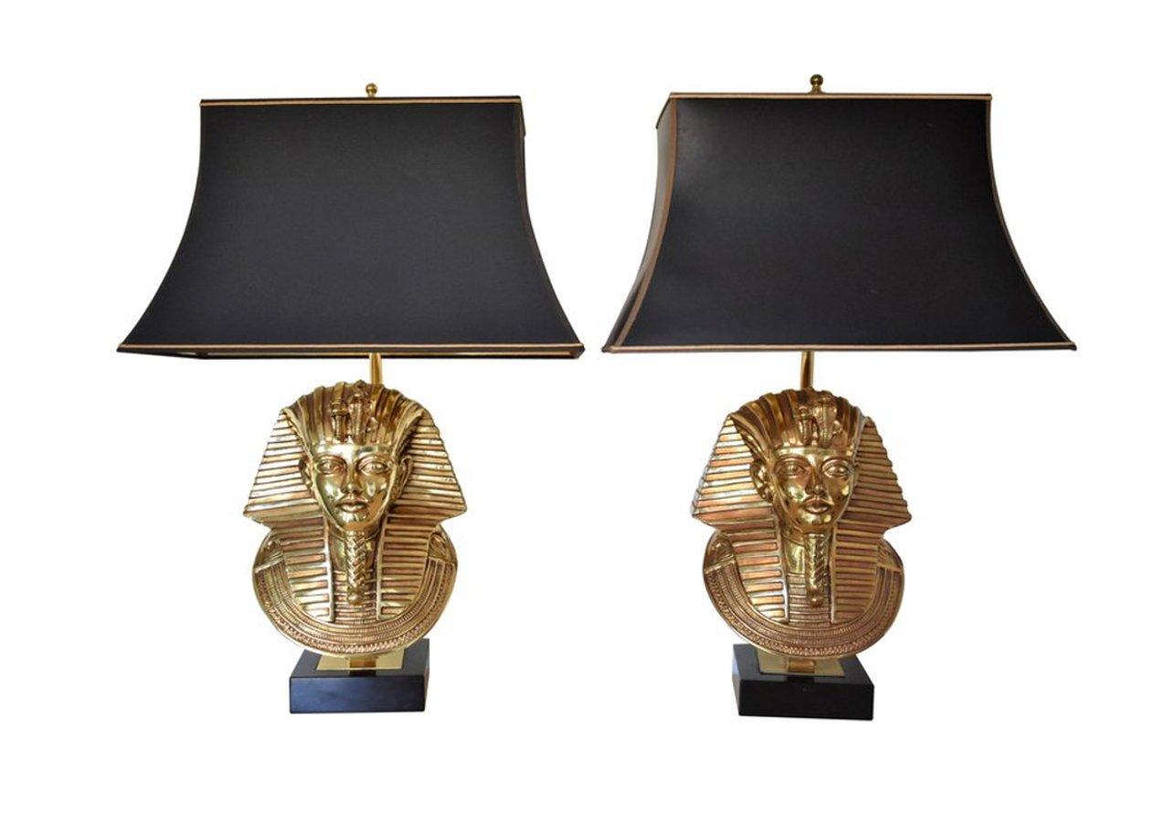 Hollywood Regency Pharaoh Tischlampen von Maison Jansen für Deknudt, 1...