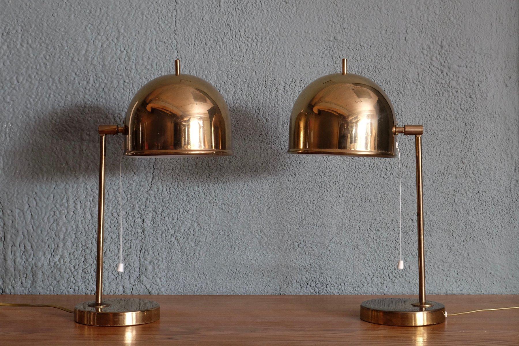 B-075 Tischlampen aus Messing von Bergboms, 1960er, 2er Set