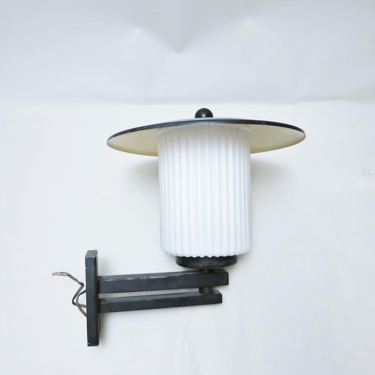 Lampe in Laternenoptik von Lunel, 1950er