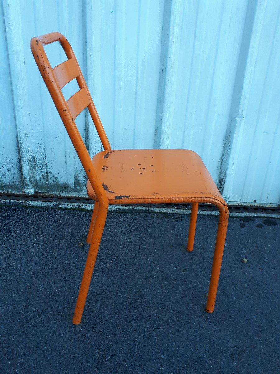8 Arancione Di Industriali Vintage Sedie T2 In TolixSet ...