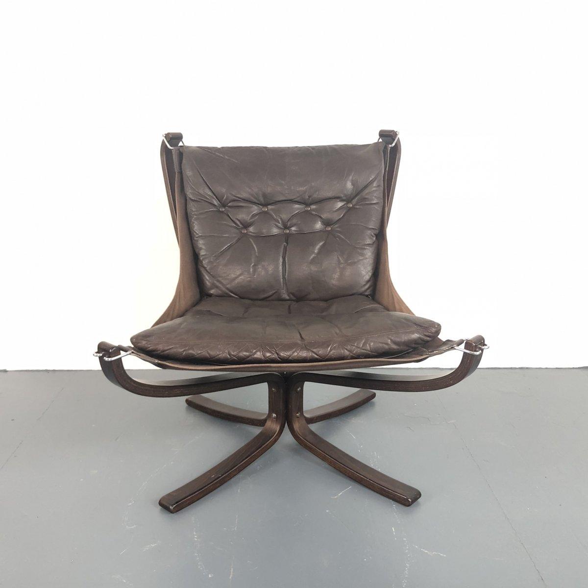 Vintage Falcon Chair mit niedriger Rücklehne von Sigurd Ressell