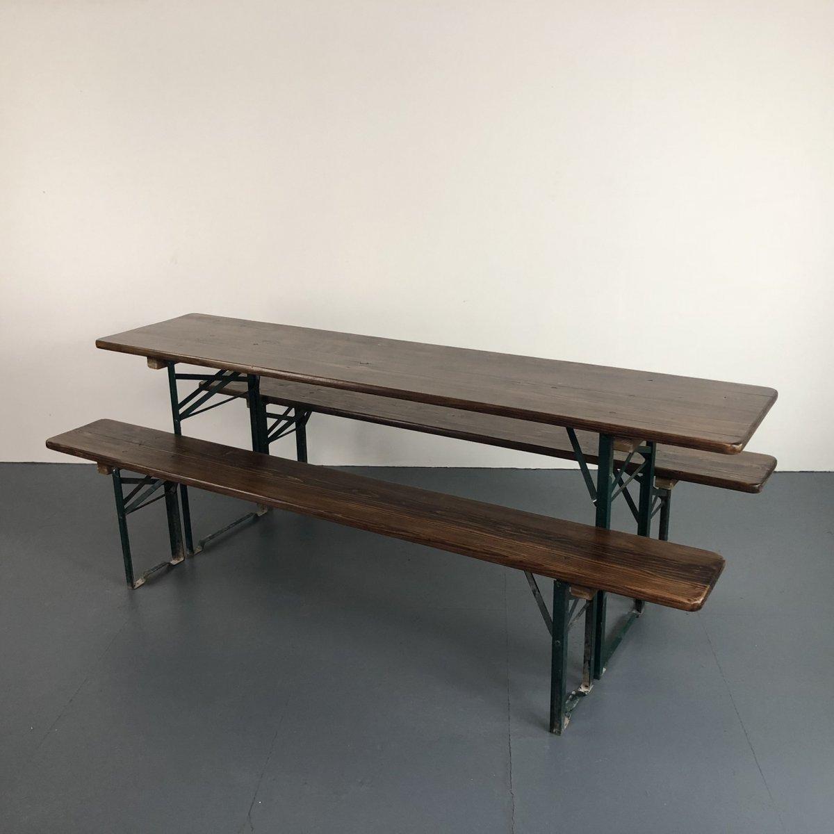 Deutscher Vintage Tisch & Bänke