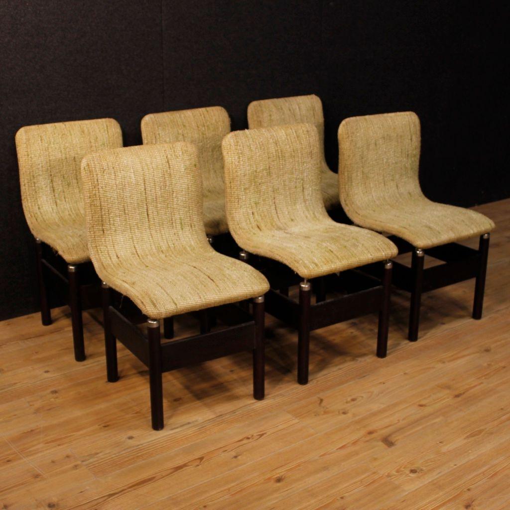 Italienische Vintage Stühle von Vittorio Introini, 1980er, 6er Set