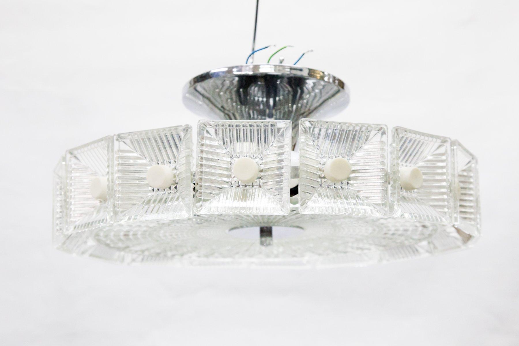 Kronleuchter Mit Glasschirm ~ Kronleuchter aus gemeißeltem glas er bei pamono kaufen