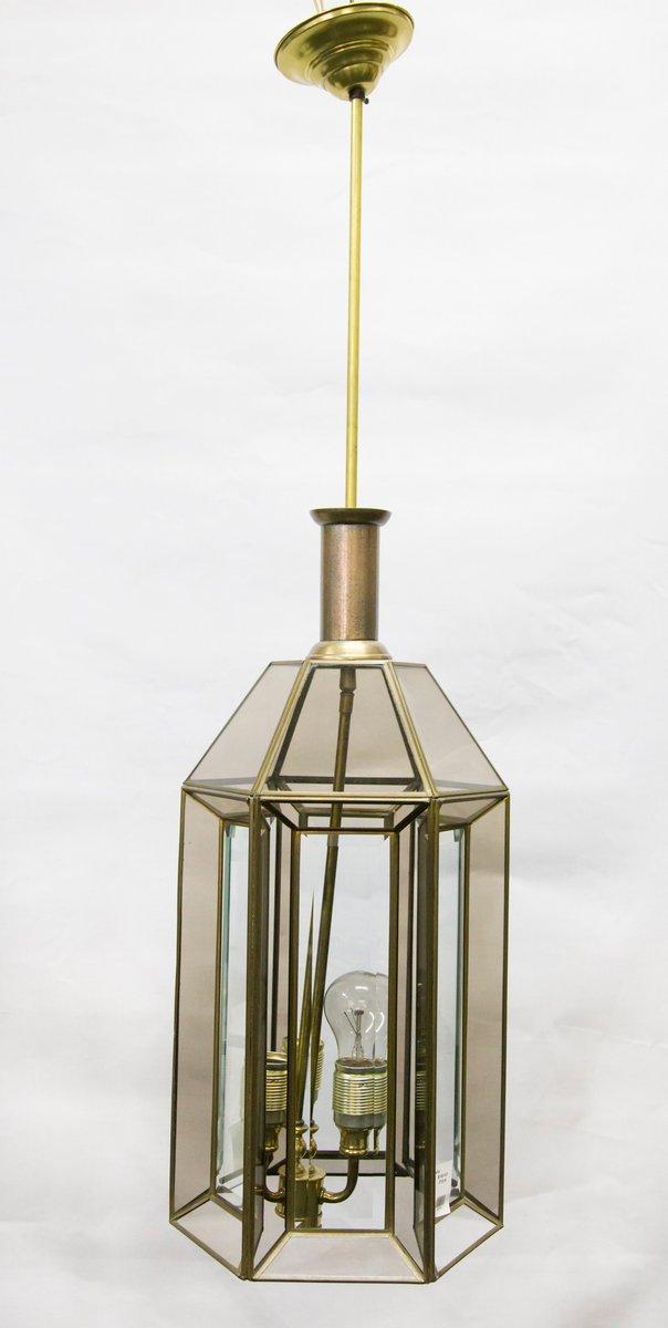 Vintage Art Deco Deckenlampe aus goldenem Glas