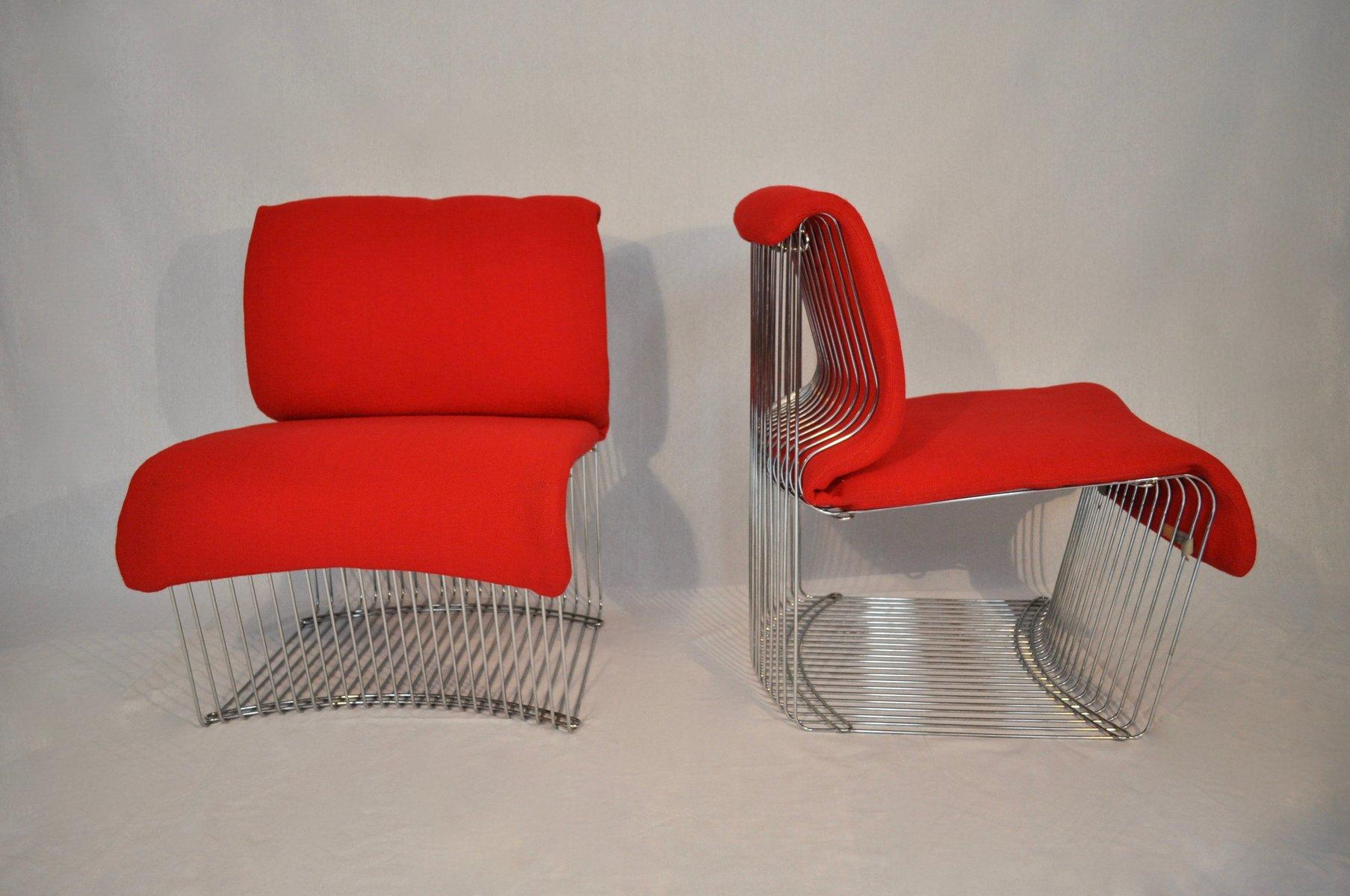 Pantonova Stühle von Verner Panton für Fritz Hansen, 1971, 2er Set