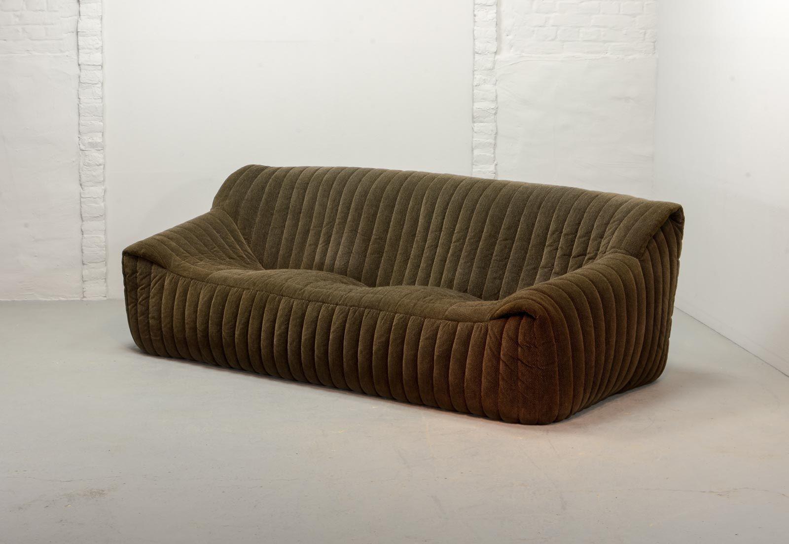 Französisches 3-Sitzer Sofa von Annie Hieronymus für Ligne Roset, 1970...