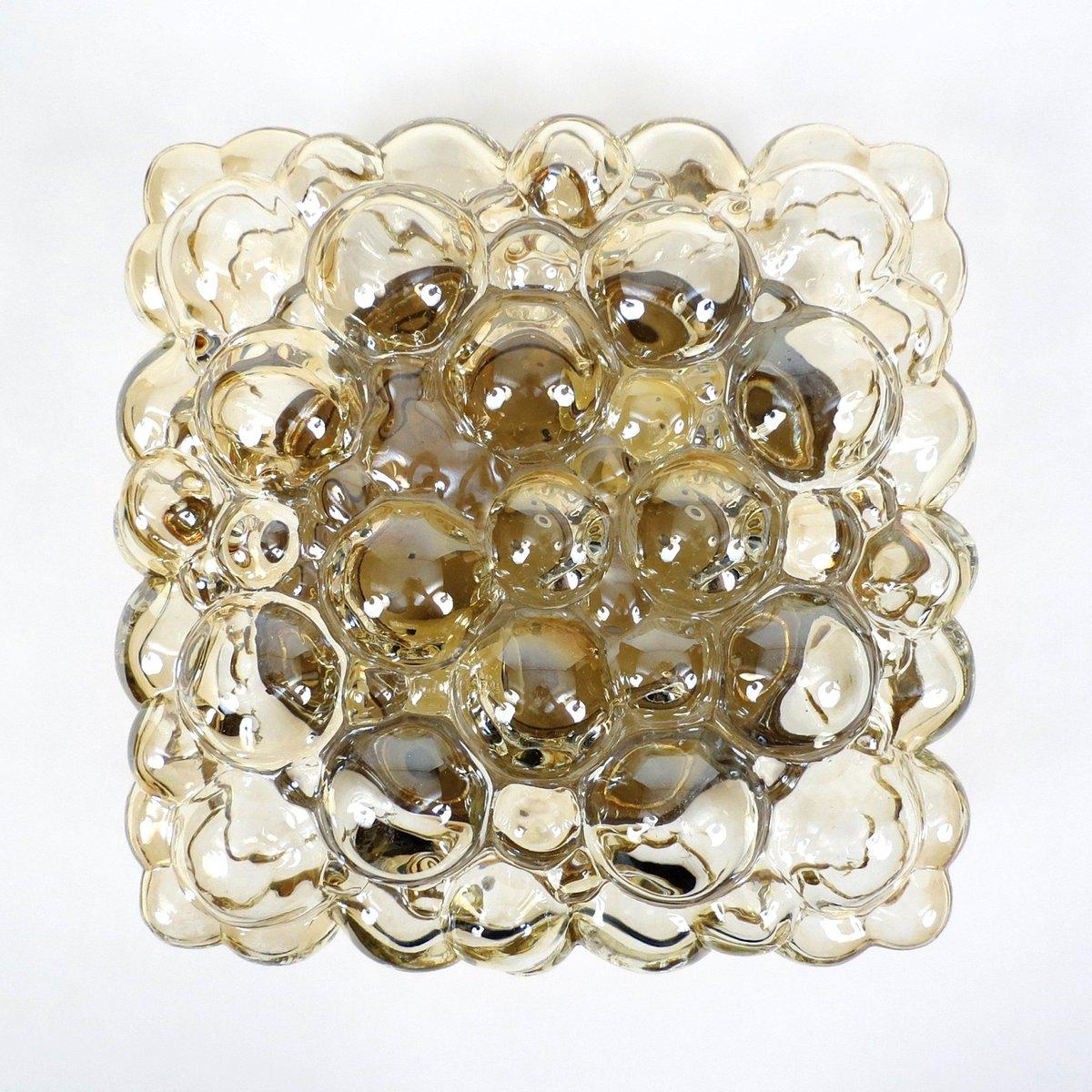 Deckenlampe aus Sideglas von Helena Tynell für Limburg, 1960er