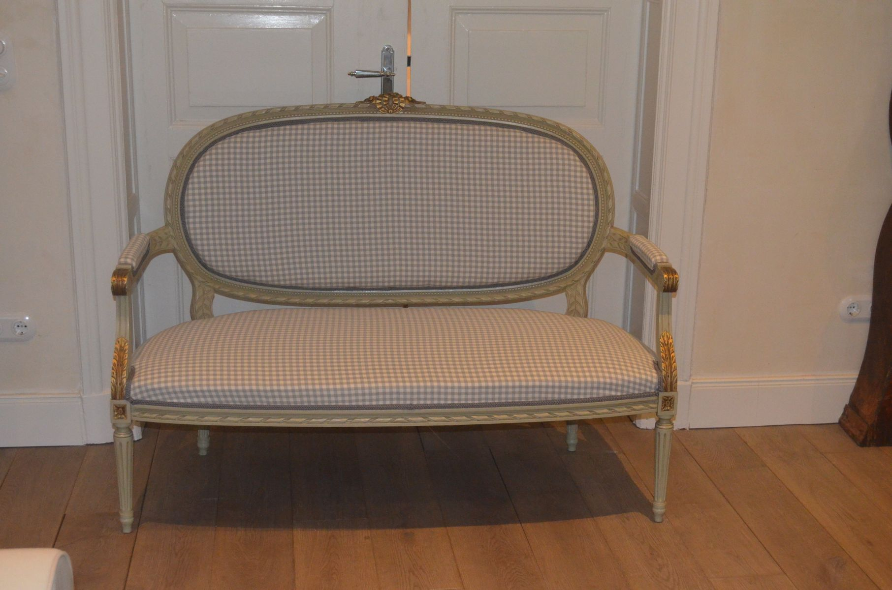 Antique Swedish Gustavian Sofa Bench