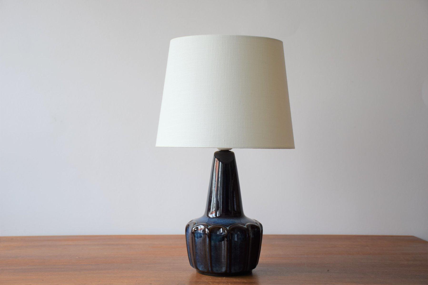Dänische Mid-Century Tischlampe in Blau von Einar Johansen für Søholm,...