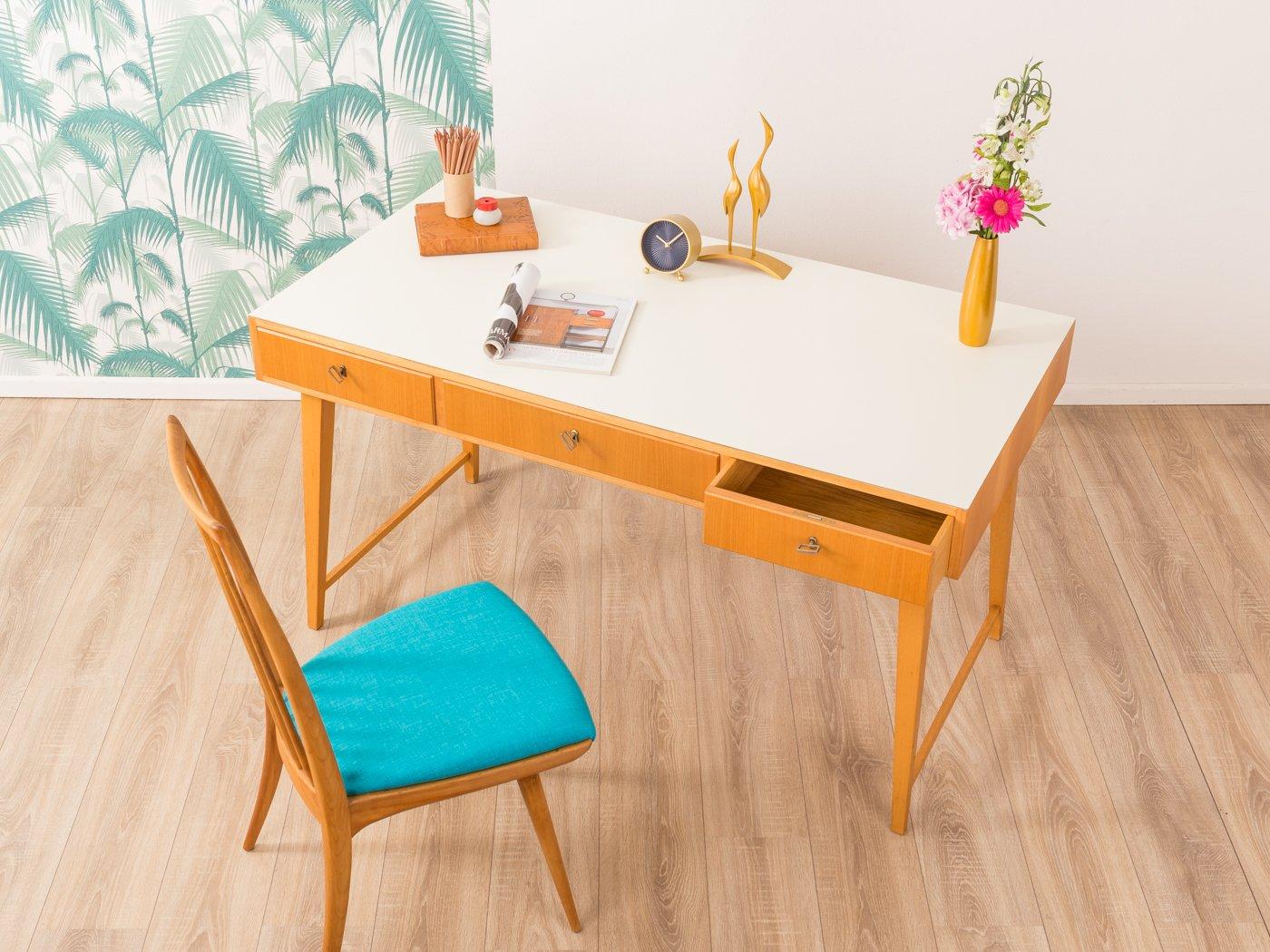 mid century schreibtisch von wk m bel 1950er bei pamono. Black Bedroom Furniture Sets. Home Design Ideas