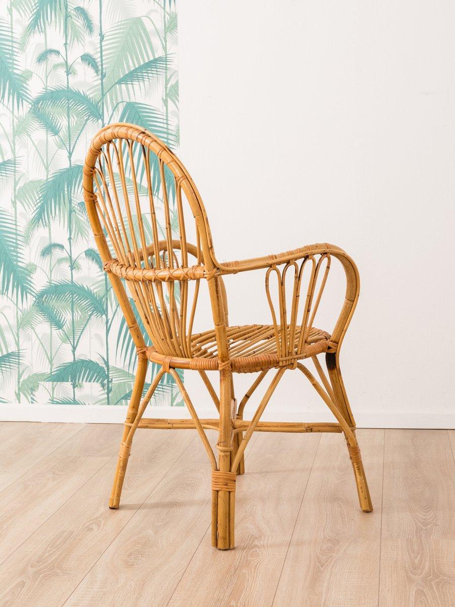 Mid century stuhl aus bambus 1960er bei pamono kaufen - Mid century stuhl ...