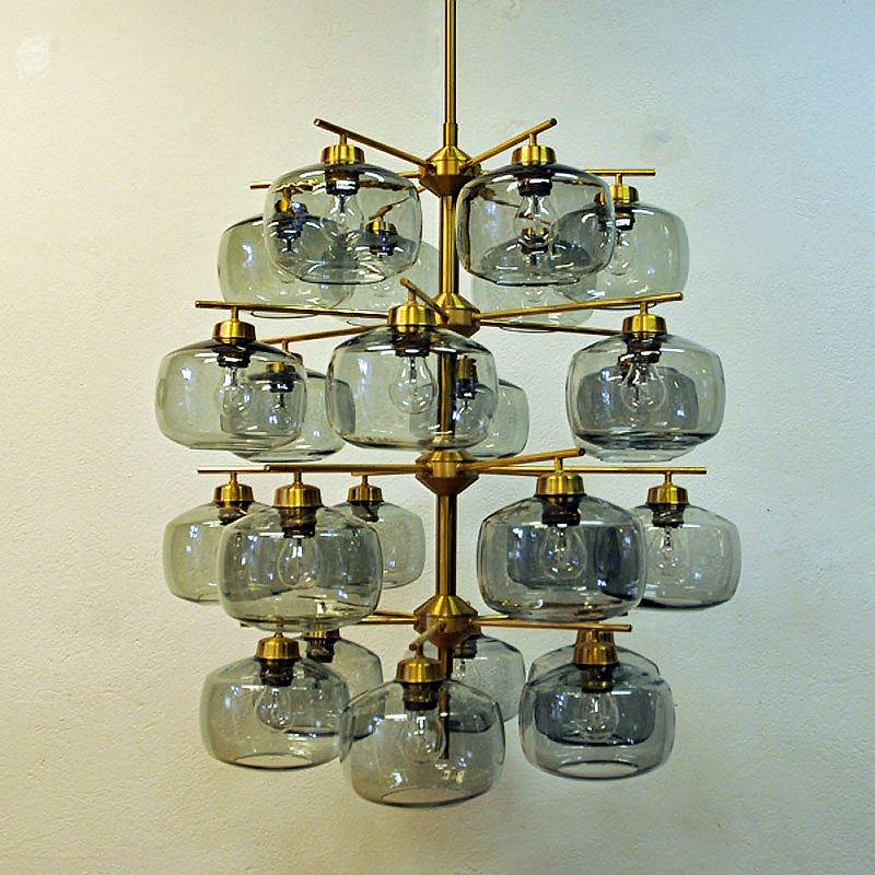 24 Glass Chandelier by Holger Johansson for Westal, 1952