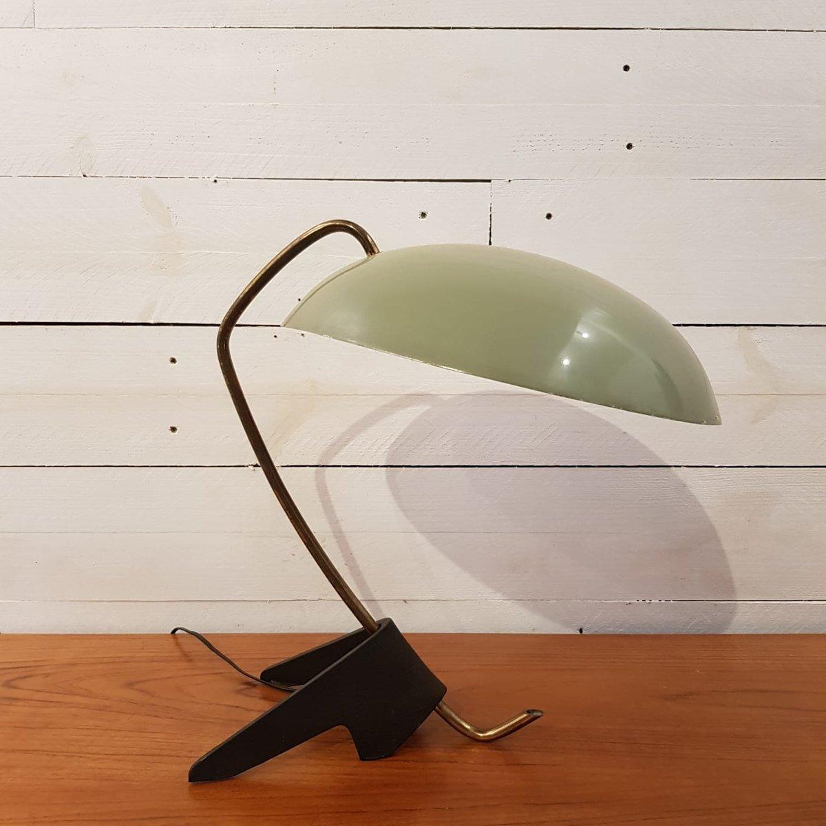 Cocotte Lampe mit Dreifuß in grün & schwarz lackiertem Metall, 1950er