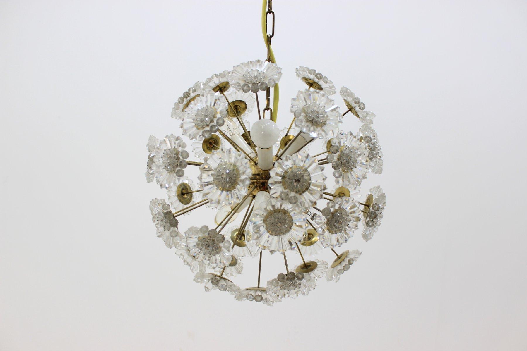 Sputnik Dandelion Mid-Century Hängelampe von Preciosa, 1970er