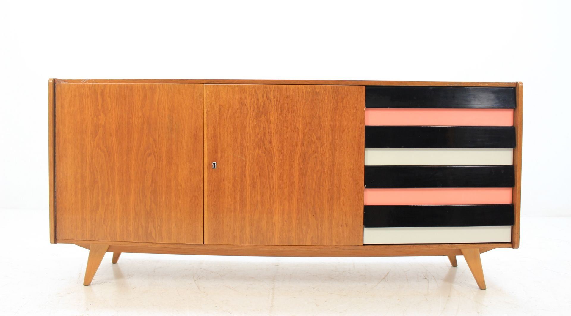 mid century langes sideboard von ji jiroutek f r interier praha 196 cafe konrad vib. Black Bedroom Furniture Sets. Home Design Ideas