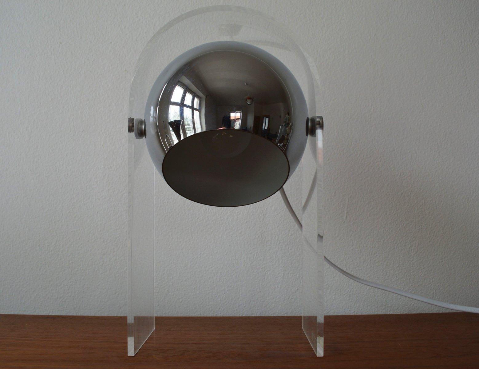 Space Age Mid-Century Tischlampe aus Plexiglas von Robert Sonneman, 19...
