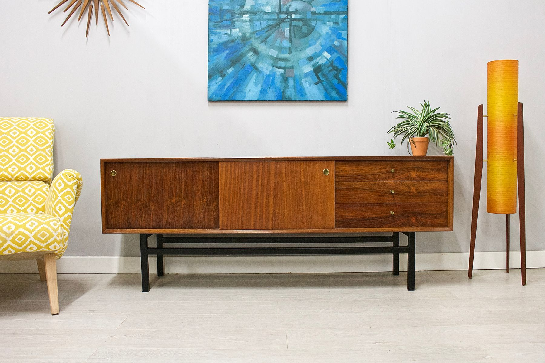 Mid-Century Teak and Walnut Sideboard from White and Newton, 1960s