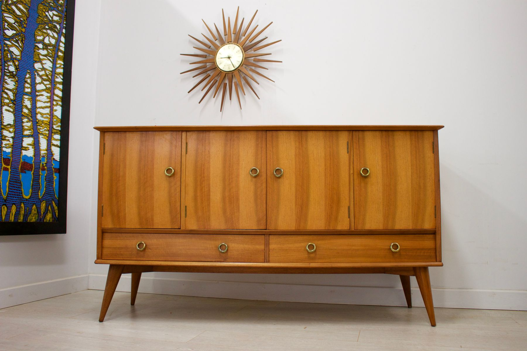 Mid-Century Walnut and Teak Sideboard from A Younger Ltd., 1960s