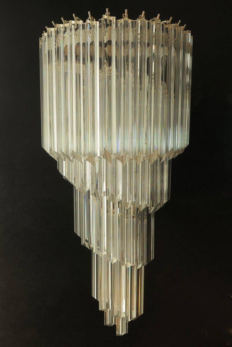 Große italienische Wandlampen aus Muranoglas, 1985, 2er Set