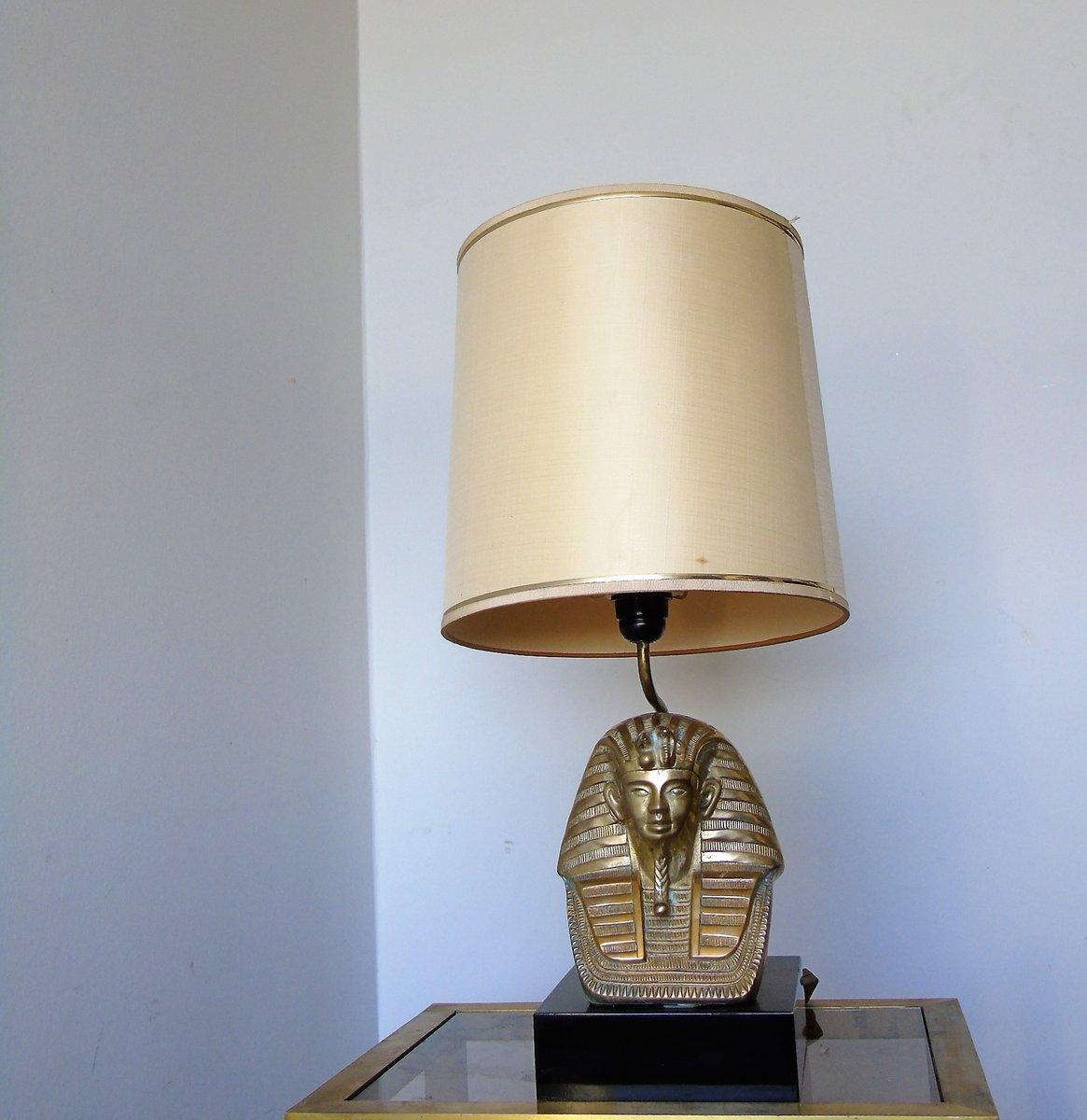 Mid-Century Tischlampe mit Pharaonen-Fuß aus Bronze, 1960er