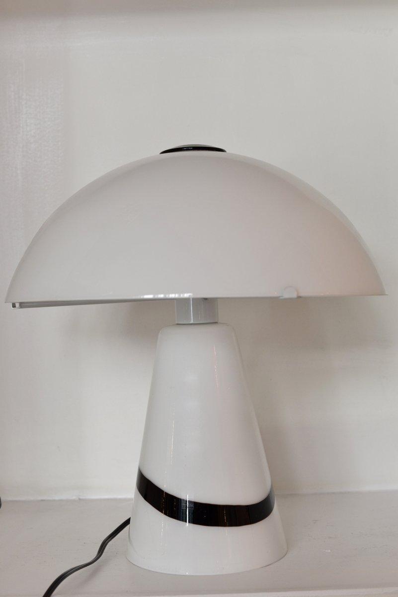 Pilzförmige italienische Lampe aus Muranoglas, 1980er