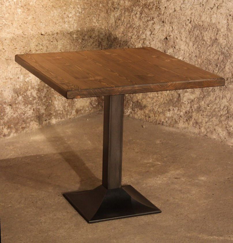 Square bistro table in cast iron steel 1980s for sale at pamono square bistro table in cast iron steel 1980s watchthetrailerfo