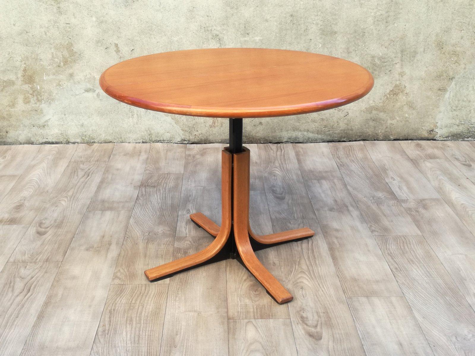 Runder Esstisch Aus Holz U0026 Metall, 1960er