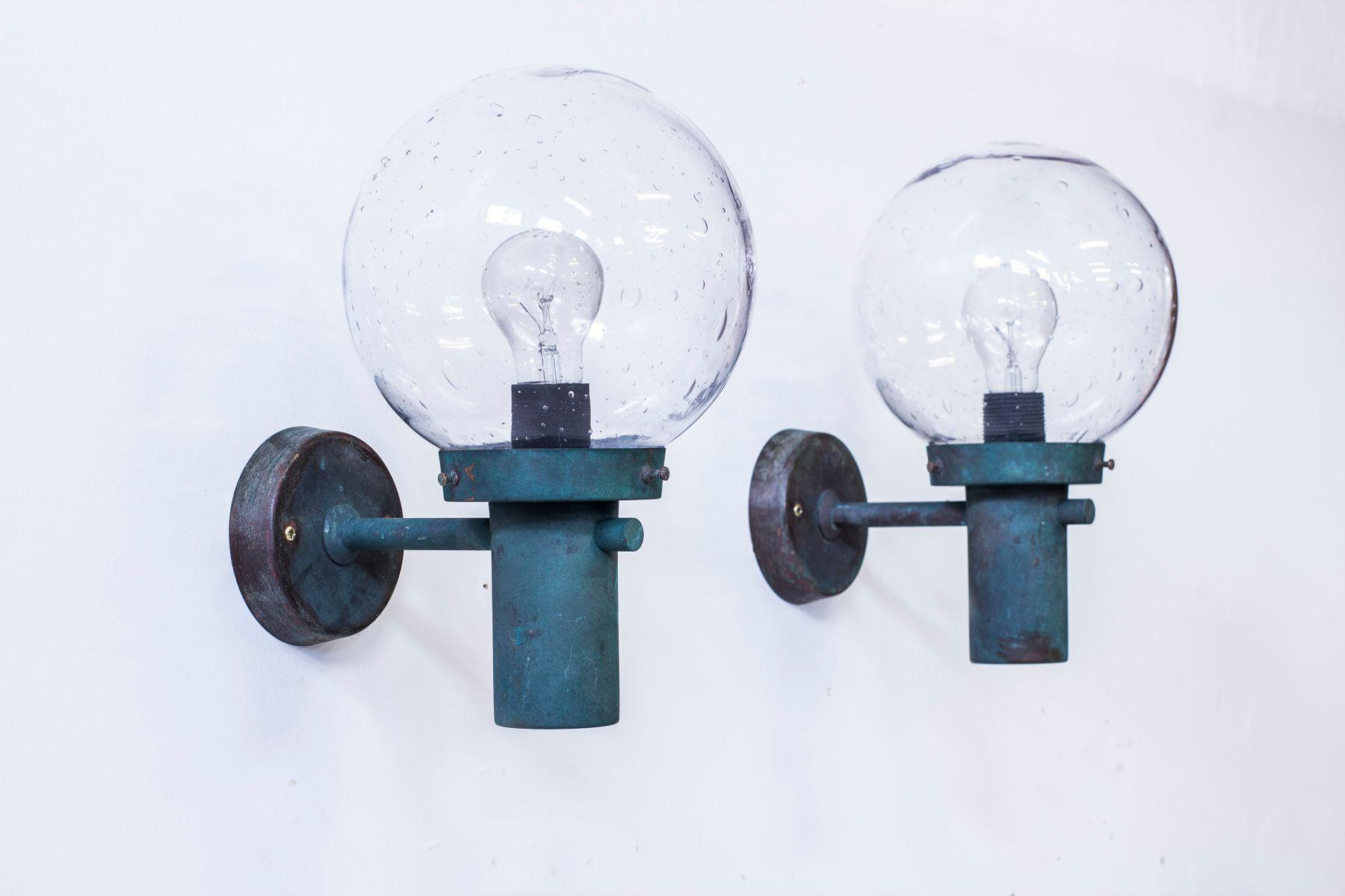 Kupfer Wandlampen von Anders Pehrson für Ateljé Lyktan, 1960er, 2er Se...