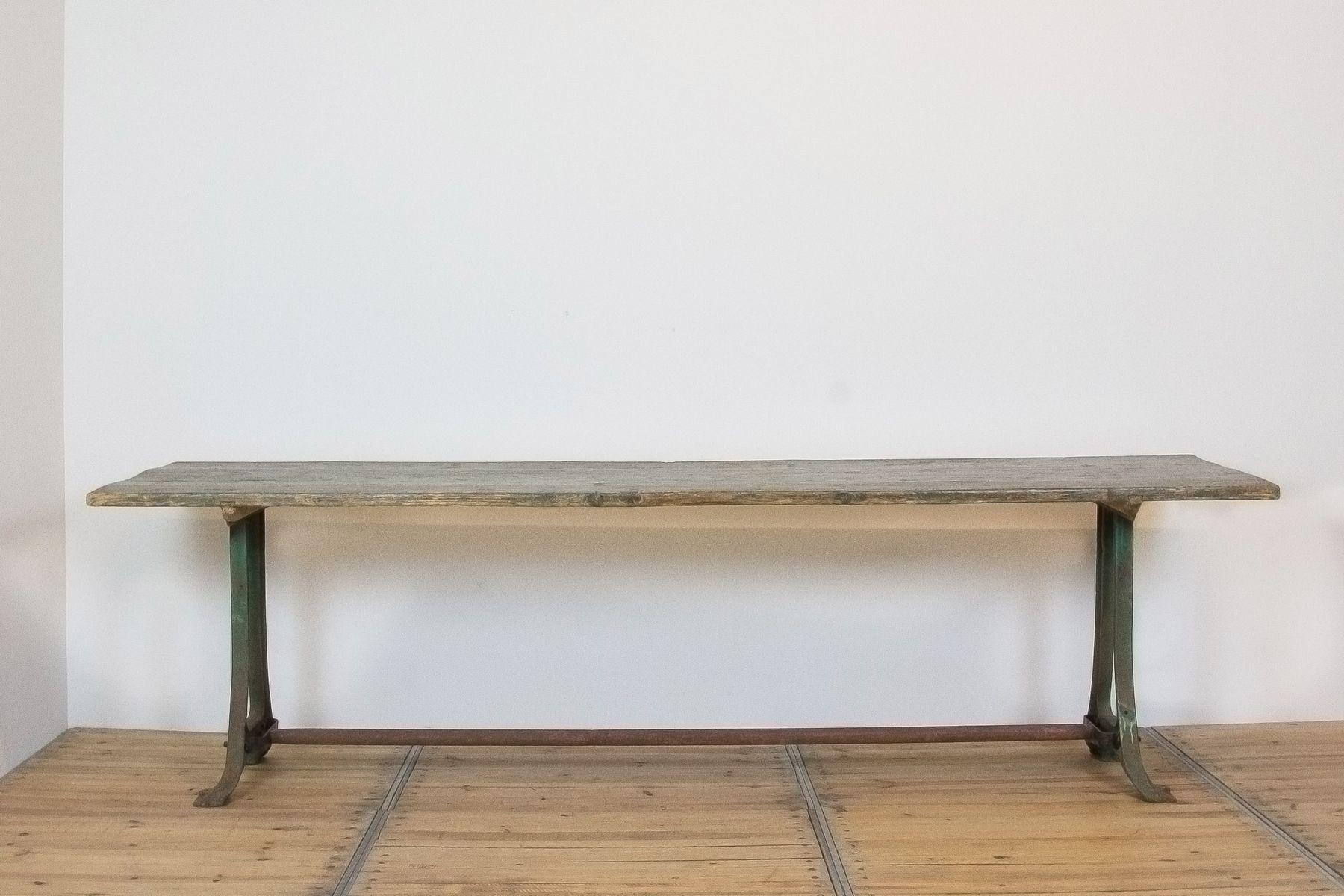 Industrieller grüner Vintage Tisch von Diamant