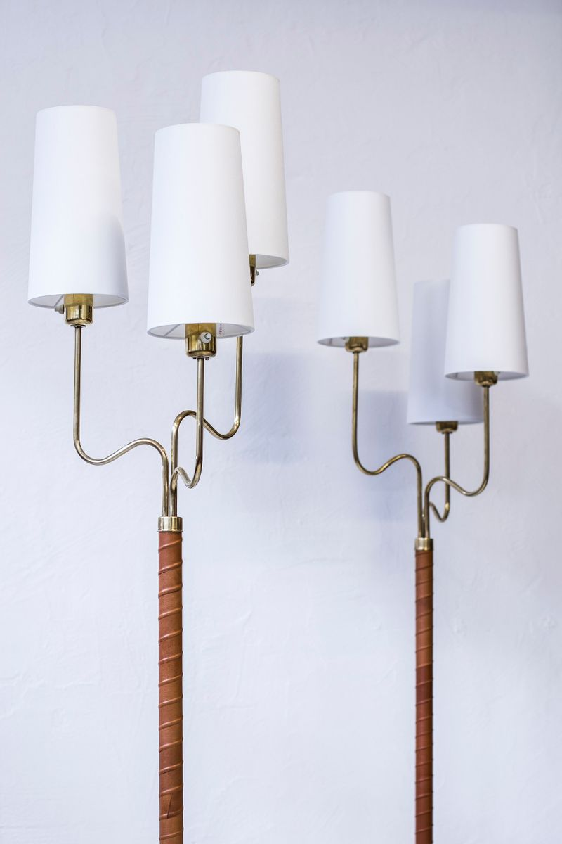 Floor lamps by hans bergström for asea 1940s set of 2