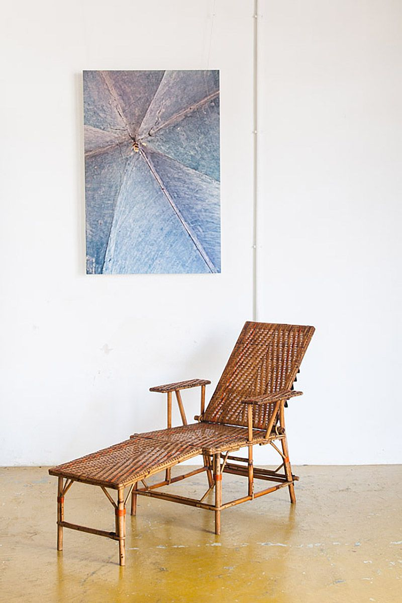 Mid Century French Reed Wicker Chaise Longue For Sale At Pamono