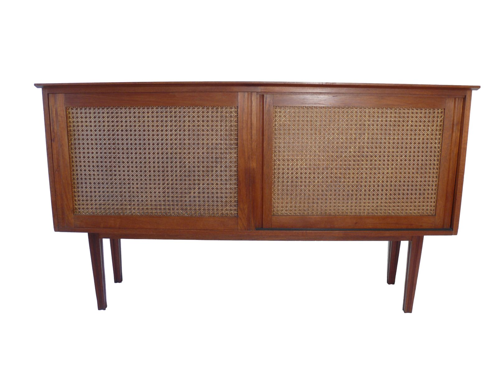 Wicker Fronted Sideboard by Tony Hunt for Terence Conran, 1960s