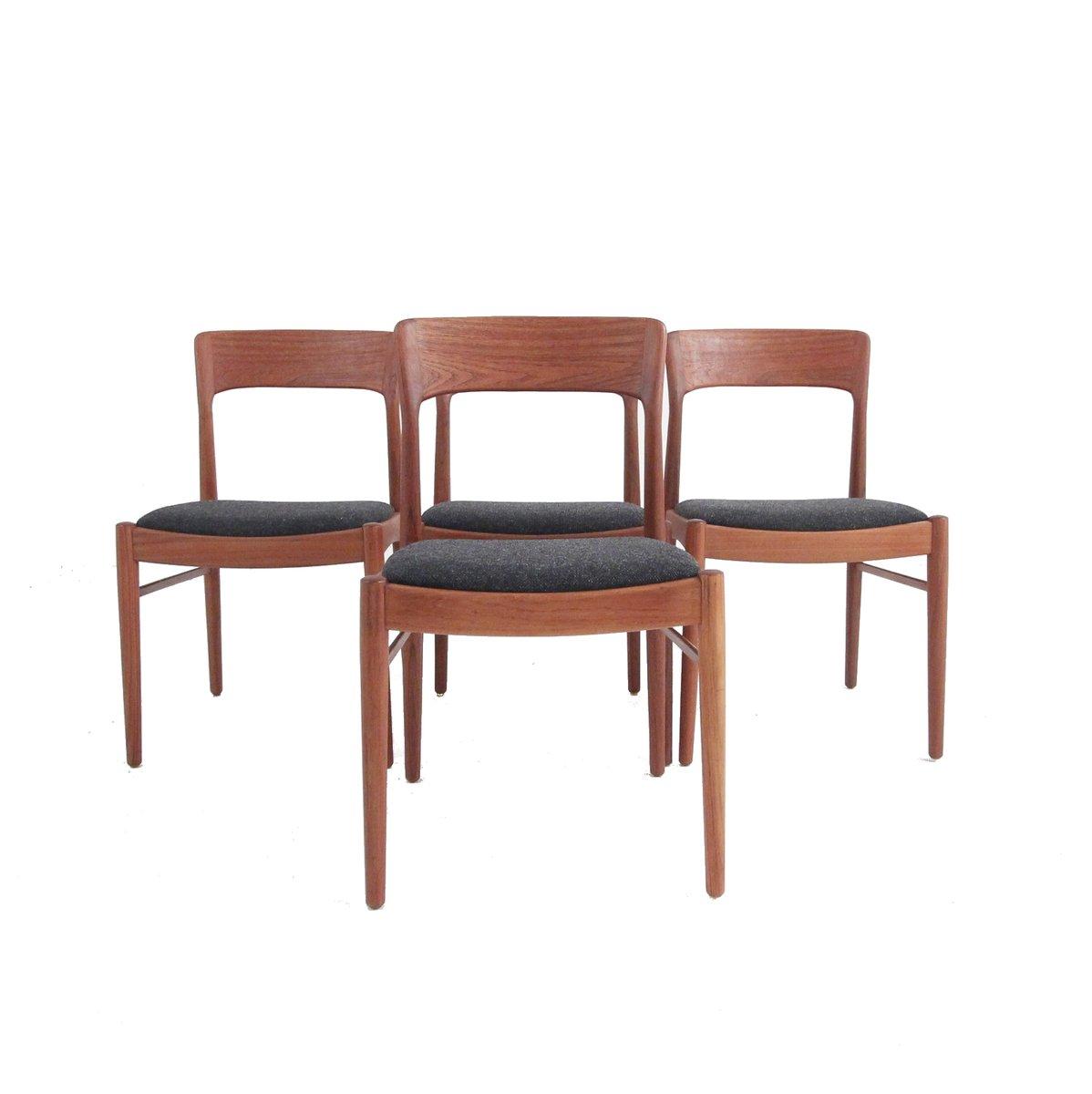 Mid century danish dining chairs from korup stolefabrik set of 4