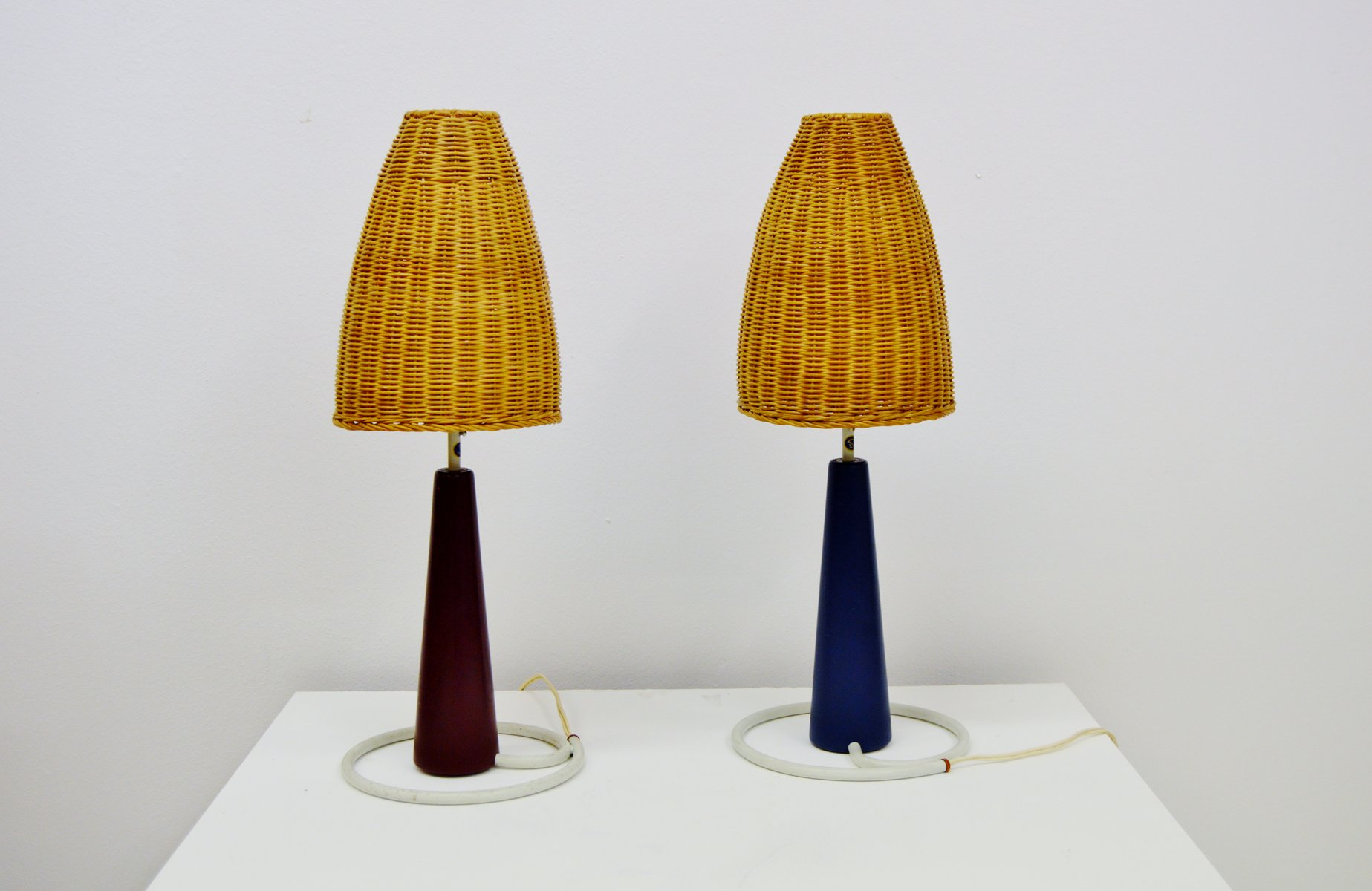Kegelförmige Tischlampen von Bergboms, 1950er, 2er Set