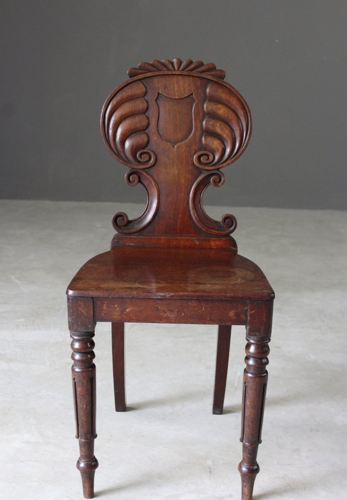 Antique Regency Hall Chair - Antique Regency Hall Chair For Sale At Pamono